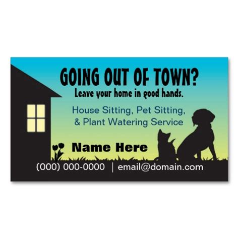 house and dog sitters house pet sitting plant watering business card pet sitting business cards and