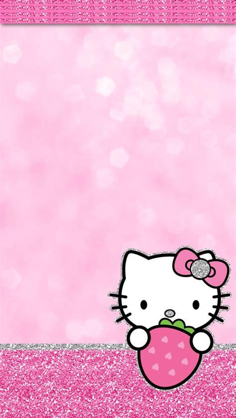 wallpaper hello kitty pink cute iglamdroid hello kitty strawberry wallpaper even my