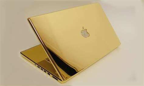 Laptop Macbook Gold apple will you buy a platinum gold plated macbook pro for 30k gizbot