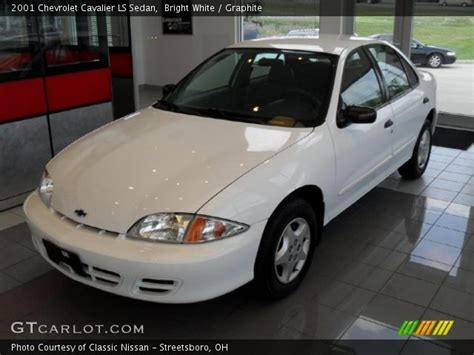Bright Ls by Bright White 2001 Chevrolet Cavalier Ls Sedan Graphite