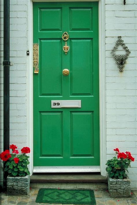 Green Front Door Paint Oh The Things Front Door Colors Convey A View From The