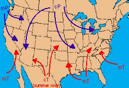 america air mass map 411c m4 u2 p1 air masses