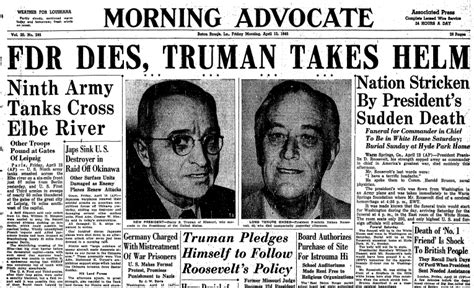 President Died In Office by 69th Anniversary President Franklin D Roosevelt Died In