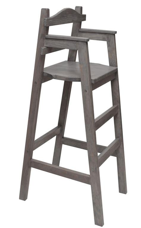 chaise haute pour table haute chaise haute enfant dahut pour table bar teint 233 e grise meubles et rangements par eric delaite