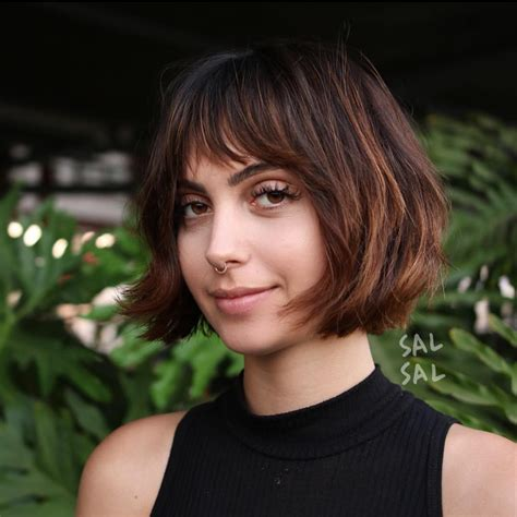 flattering bob hairstyles for square faces and women aged 40 precision wedge with bangs 40 most flattering bob