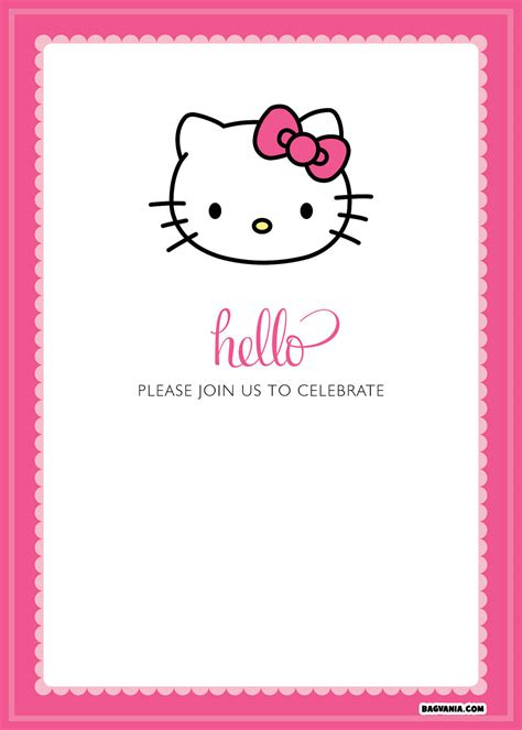 hello kitty printable invitation template free printable hello kitty birthday invitations bagvania