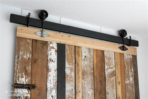 Faux Barn Door A Cheater Reclaimed Wood Barn Door Headboard With Faux Hardware Funky Junk Interiors