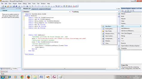 membuat koneksi vb net dengan database ms access tips kumpulan source code vb net cara membuat modul koneksi