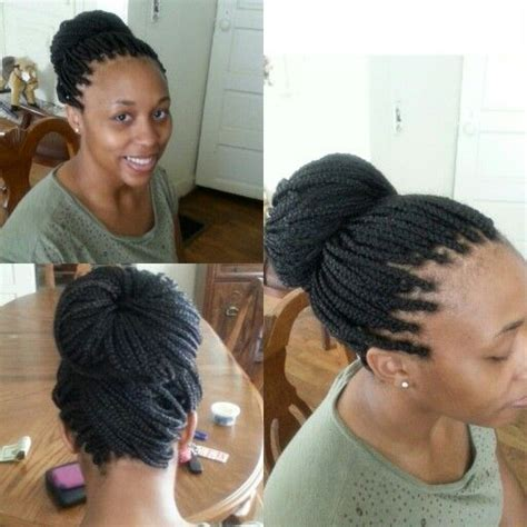 pictures od ling box braids in a bun long box braids into a bun box braids pinterest