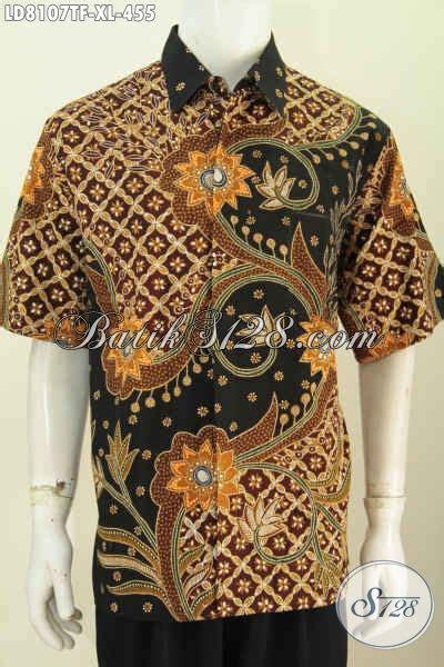 Baju Imlek Pria Dewasa baju batik pria dewasa size xl hem batik istimewa furing model lengan pendekk dengan motif
