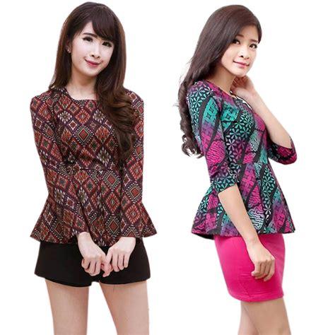Atasan Wanita Blouse Polos Baju Celana Kulot Motif Julien Set Xl skyrose batik modern tops allsize atasan batik modern wanita elevenia