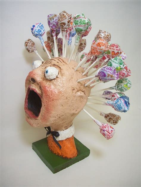 And Craft With Paper Mache - primitive paper mache folk lollipop