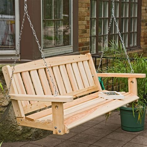 porch swing pinterest great american woodies cypress mission porch swing front