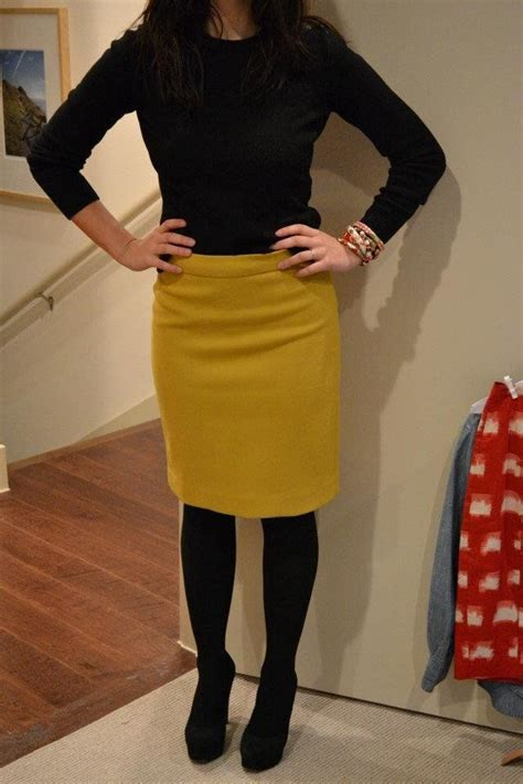 17 best ideas about yellow pencil skirt on