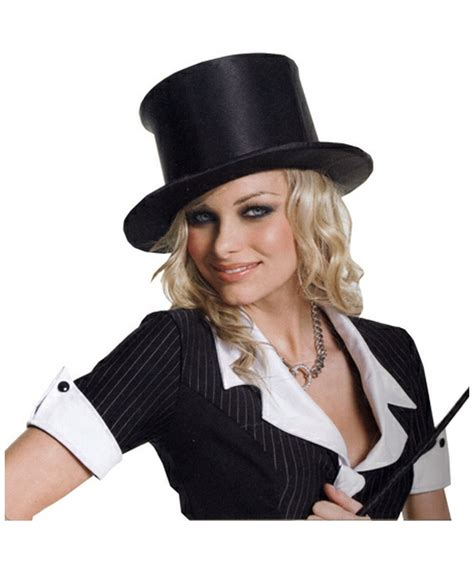 satin top hat accessory at costumes
