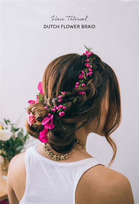 Wedding Hairstyles With Braids And Flowers hair tutorial flower braid green wedding shoes