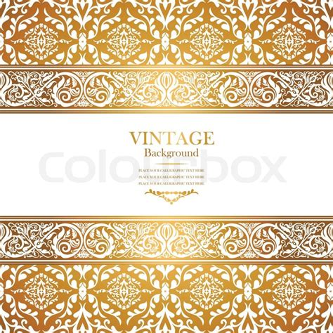 creative cover letter template vintage royal background antique victorian gold ornament