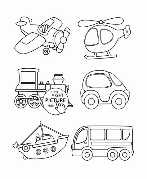 Transportation Coloring Page For Toddlers Coloring Pages Printables Free Wuppsy Com Printable For Toddlers