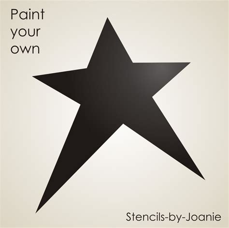 printable primitive star stencil primitive country stencil 6 5 quot star shape crafts scrapbook