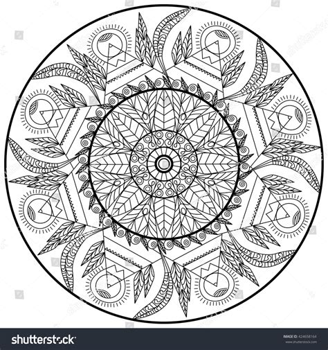 sacred mandala designs and patterns coloring books for adults transparent contour floral ornament circle mandala stock