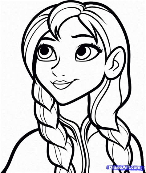 princess coloring pages frozen anna drawings from disney frozen anna colorings net