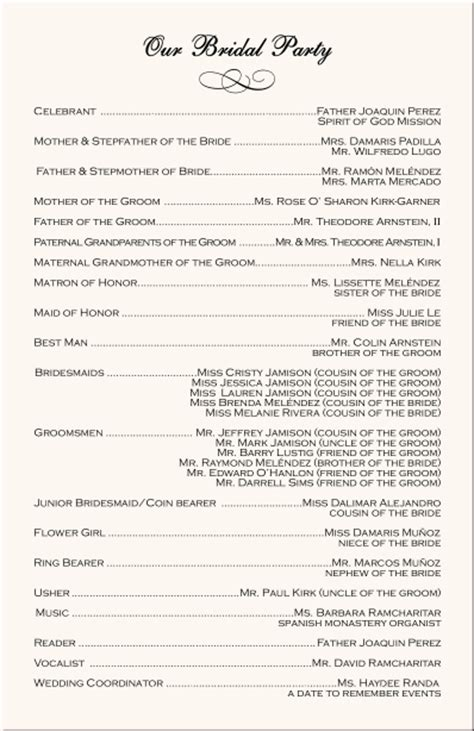 Wedding Ceremony Message Exles by Order Of Programme For A Wedding Reception In Nigeria