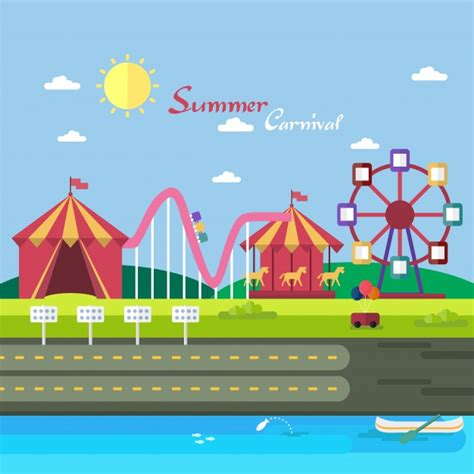 summer carnival christmas summer carnival background design vector free