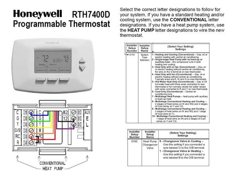 goodman heat thermostat wiring diagram on package