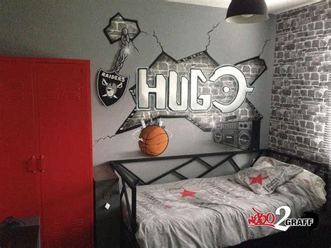 peinture graffiti decoration personnalise chambre denfant