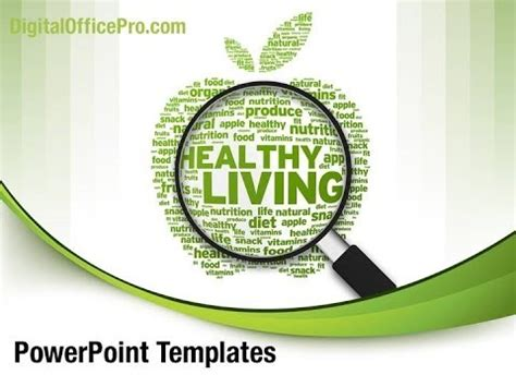 Healthy Living PowerPoint Template Backgrounds