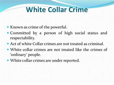 Mba Definition Of Delinquency by White Collar Crime Definition Extent Forms In India