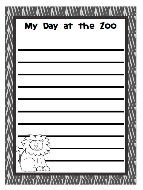 printable animal lined paper 9 best images of journal writing paper printable animal