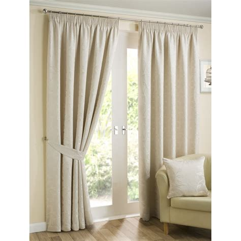 natural floral curtains belfield furnishings elizabeth natural floral pencil pleat