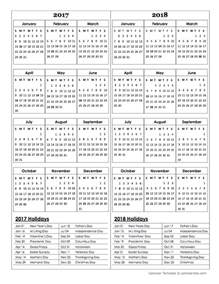 Calendar 2018 Template Docs Two Year Calendar Template 2017 And 2018 Free Printable