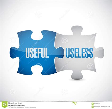 On Useless Corporate Websites by Useful And Useless Puzzle Pieces Sign Illustration Stock