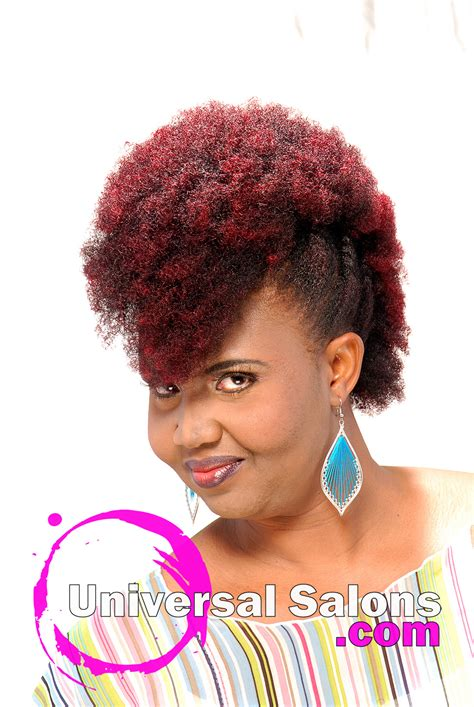 Hairstyles In Kenya by Mohawk With Plumb Ombre Color From Kenya