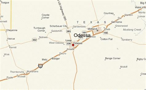 map odessa texas odessa texas location guide