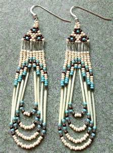 on sale unique native american beaded quill earrings