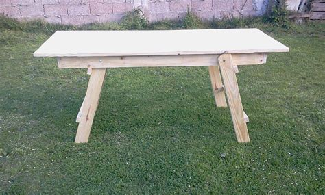 mesa plegable madera macisa  en mercado libre