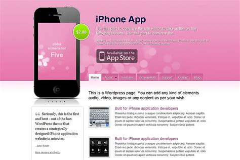 iphone themes color iphone app wordpress theme from templatic