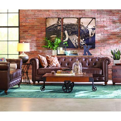 home decorators gordon sofa home decorators collection gordon brown leather loveseat