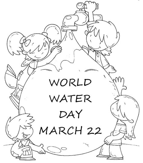 preschool coloring pages water world water day coloring page activity earth day