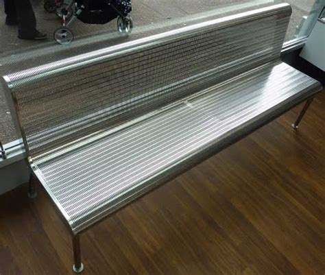 diner bench seating stainless steel for the takeaway seating sector