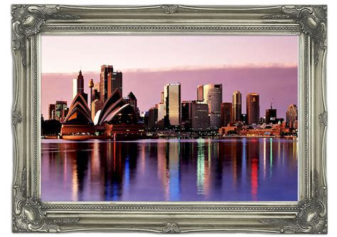 wall murals sydney sydney harbour opera house stunning pink reflections architecture mural printed wall mural