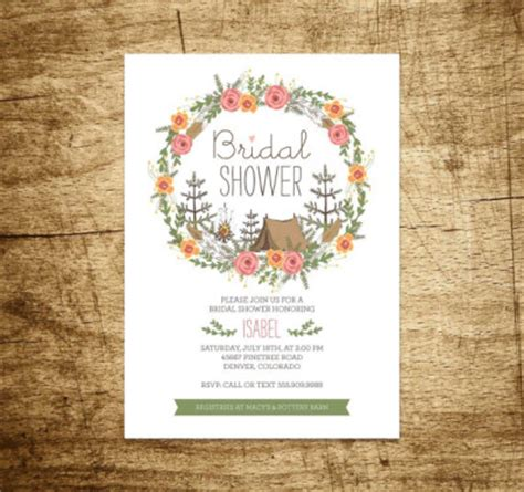 camping themed bridal shower ideas themes