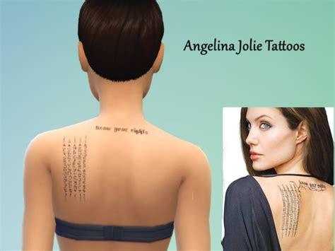 chest tattoo angelina jolie sohviax s angelina jolie tattoos