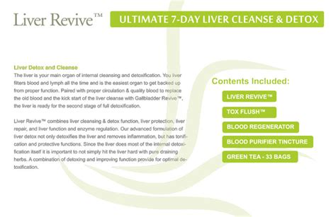 Detox Cleanse Skin Rash by Liver Revive Ultimate 7 Day Liver Detox Cleanse Dimmak