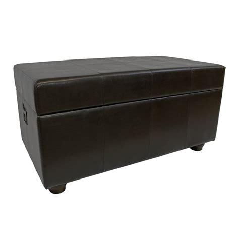 bench trunking faux leather bench trunk in chocolate ywlf 2186 dc