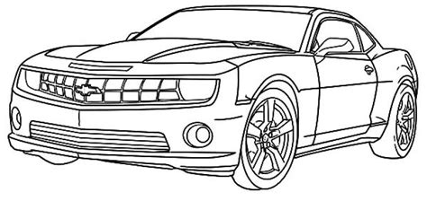 chevy camaro cars coloring pages transportation coloring