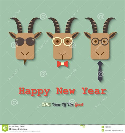 happy new year goat 2015 year of the goat vector cartoondealer
